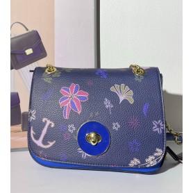 TED LAPIDUS - Sac porté épaule - bleu floral