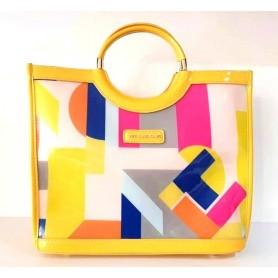 TED LAPIDUS - Sac à main - Transparent et multicolore - Jaune