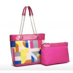 TED LAPIDUS - Sac porté épaule - Transparent et multicolore - Rose